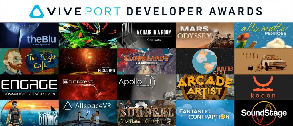 第一屆 Viveport 開發者大獎 得獎名單
