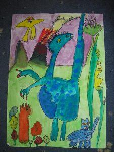 Liz Edwards' dinosaur piece