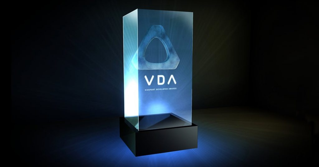 Viveport Developer Awards trophy mock-up