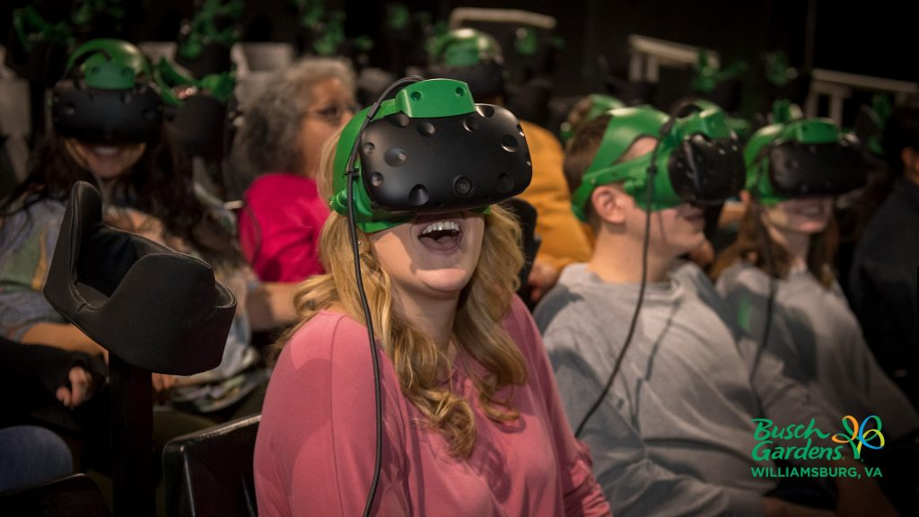 Busch Gardens Guest Using VIVE on Battle for Eire