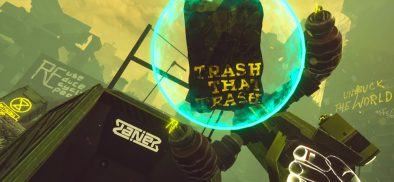 Clean up the planet with awesome robot arms in Trash Rage from Giant Lazer