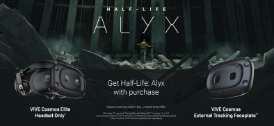 On Sale Details: Cosmos Elite Headset (HMD Only) and External Tracking Faceplate, both with Half-Life: Alyx
