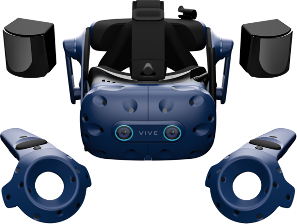 The HTC VIVE Pro Eye is PC-based VR Headset designed to work with external computers to provide the best VR experience for your business.