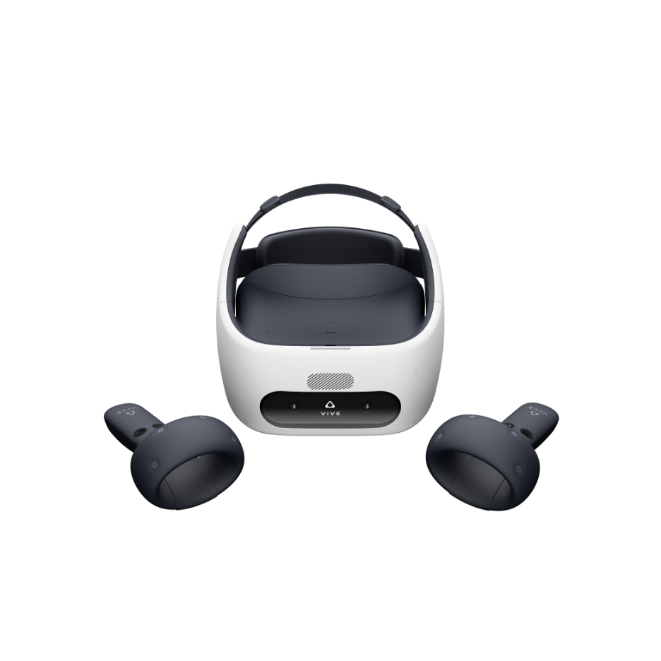 The HTC VIVE Focus Plus is an advanced all-in-one (AIO) VR headset that is completely wireless, offering portability and versatility.